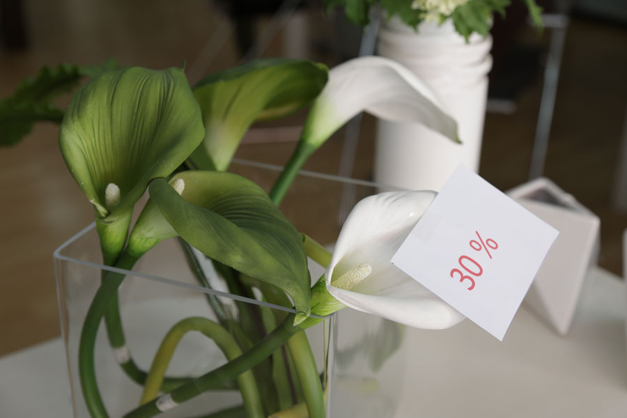 flores decorativas rebajas